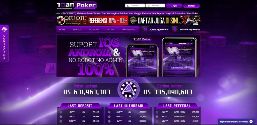 kenyamanan poker online